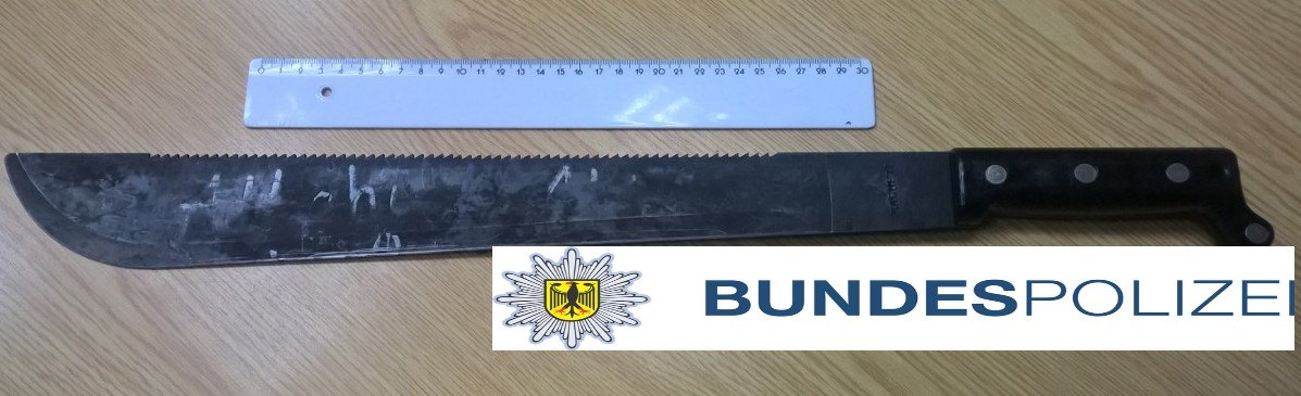 Foto : Machete ,Bundespolizeidirektion Sankt Augustin