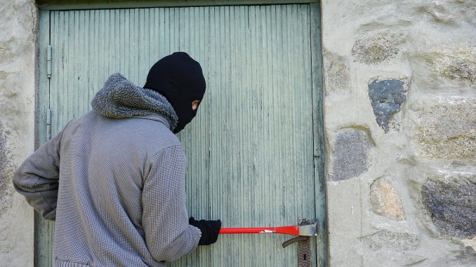 Thief Burglary Break Into Balaclava