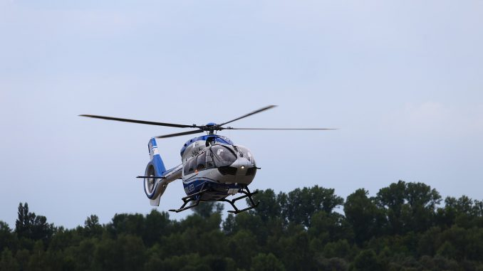 Police Helicopter Flying