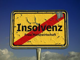Insolvency Shield Town Sign Note