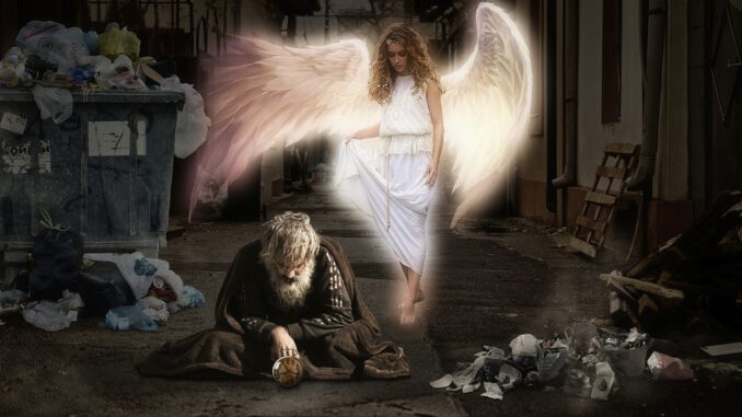 Man Homeless Poverty Angel Beggars  - Dieterich01 / Pixabay